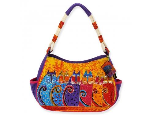 b6d2f7c82158 Купить сумку женскую Laurel Burch 524316, Feline tribe (хлопок) по цене от  1670 рублей - сумку женскую недорого - Сумки, портфели, чемоданы - Одежда,  бельё, ...
