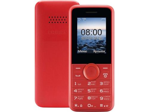 6d80d18db05fe Купить сотовый телефон Philips Xenium E106, красный по цене от 1560 ...