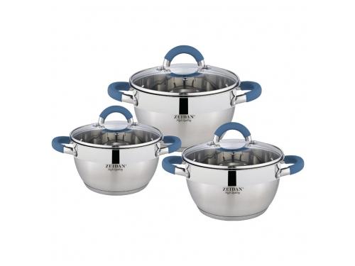 Купить <b>набор посуды</b> для готовки Zeidan Z-50619, <b>6 предметов</b> по ...