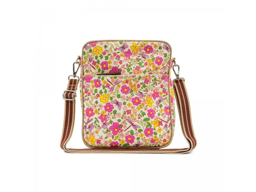 84a755373756 Сумка для мамы Pink Lining Out And About Mini Messenger, Cottage Garden,  вид 1 ...
